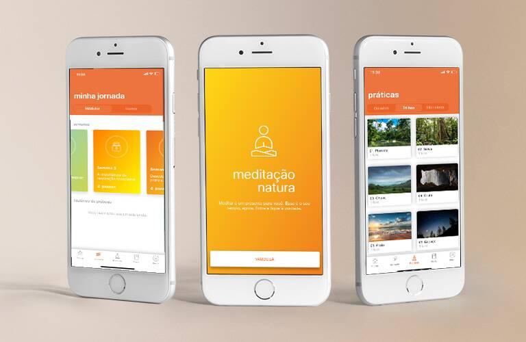 Meditação Natura app para meditar gratuito