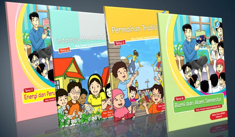 Download Buku Guru dan Siswa Kelas 3 SD MI Revisi Terbaru 2017 Kurikulum 2013 tema 5 permainan tradisional tema 6 indahnya persahabatan tema 7 energi dan perubahannya tema 8 bumi dan alam semesta
