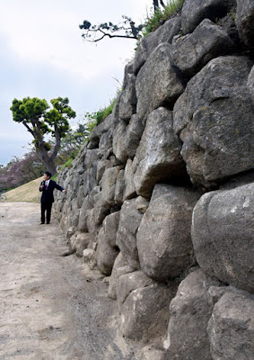 Shogun's castle wall sees the light of day after nearly 400 years