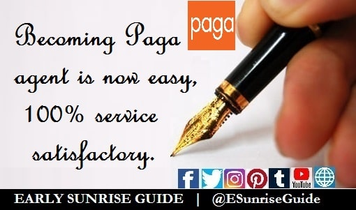 Becoming Paga agent is now easy, 100% service satisfactory
