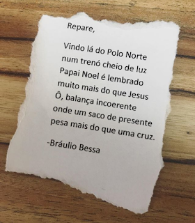 Mensagem de natal Bráulio Bessa