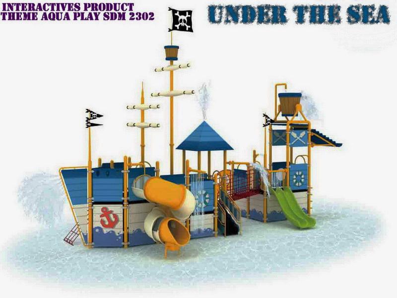 Theme Aqua Play - Ember Tumpah SDM 2302