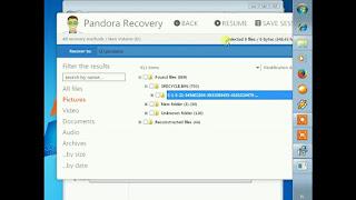 Cara Mengembalikan File dengan Pandora