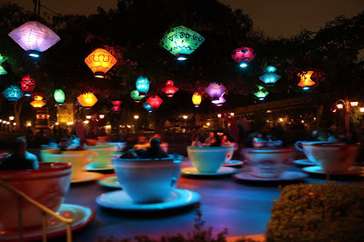 Disneyland Teacups at Night
