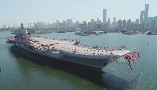 Cina Meluncurkan Kapal Induk Buatannya Untuk Pertama Kali