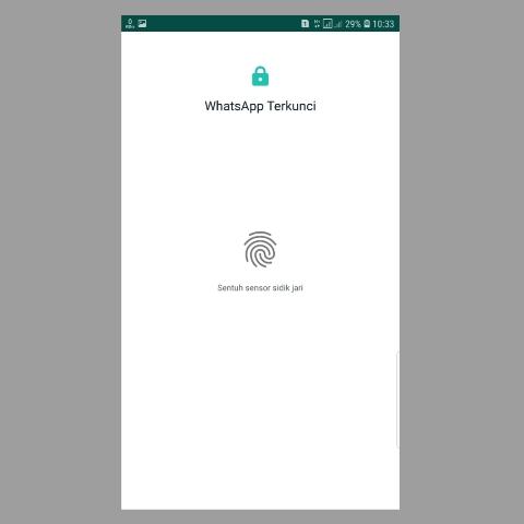 Kunci WA Whatsapp Dengan Sidik Jari