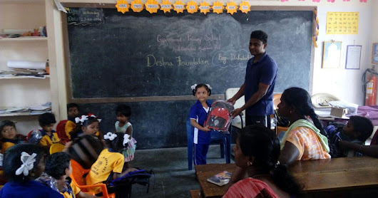 Bag Distribution @ Government Primary school, Kalitheerthalkuppampet