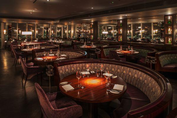 Restaurant The Shard London Richard Southall Architectural Photographer Aqua Bar And