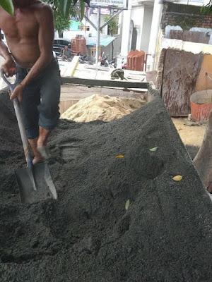 pasir cor hitam berkualitas