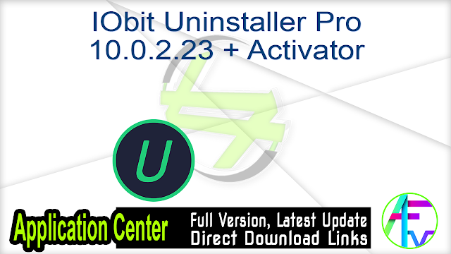 IObit Uninstaller Pro 10.0.2.23 + Activator