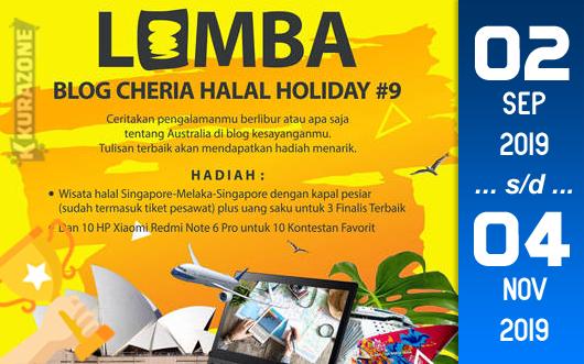 Kompetisi Blog - Cheria Halal Holiday #9 Berhadiah Paket Wisata + Uang +  HP Xiaomi