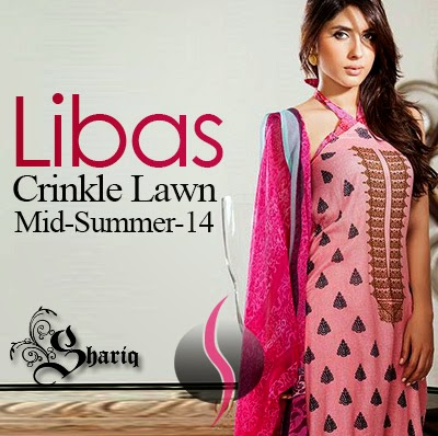 f735a1dbd9 Libas Crinkle Lawn Collection 2014 – Midsummer Lawn Dresses by Shariq