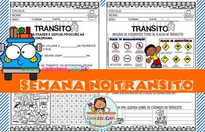 PDF, educação no trânsito, Atividades do Trânsito, lingua portuguesa, para imprimir,