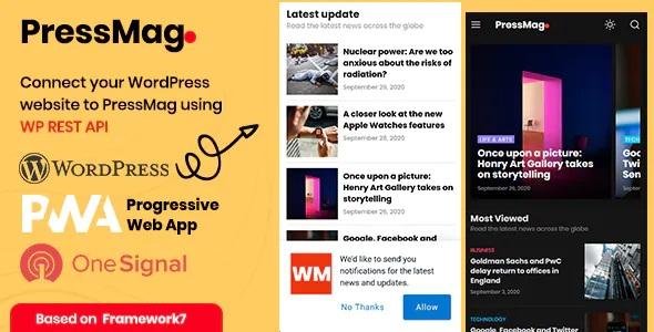 Best News & Magazine PWA Mobile Template