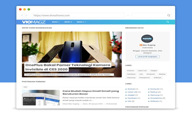 VioMagz Blogger Resposive Template - Responsive Blogger Template