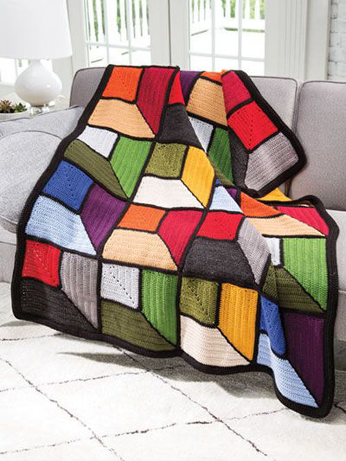 Attic Windows Afghan - Crochet Pattern
