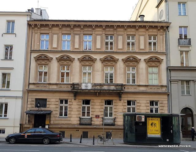 Warszawa Warsaw architektura architecture kamienica Śródmieście Józef Monkiewicz Józef Huss