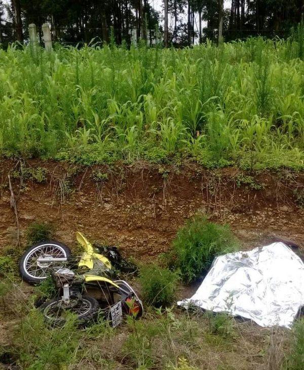 Acidente com moto na SC-477 em Iracema