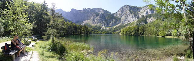 Walking to the stunning Langbathsee is well worth it!