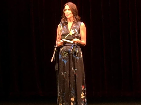 Crown Princess Mary wore Erdem Jane Silk Maxi Dress. Design Awards 2016, Danish designers