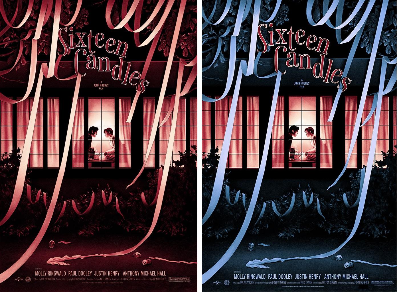 The Blot Says Sixteen Candles Movie Poster Screen Print By Sara Deck X Mondo