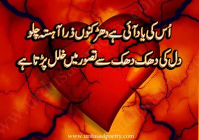 Us Ki Yaad Aye Hay Dharkanon Zara Ahista