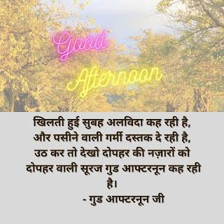 दोपहर की शायरी Good Afternoon Shayari in Hindi