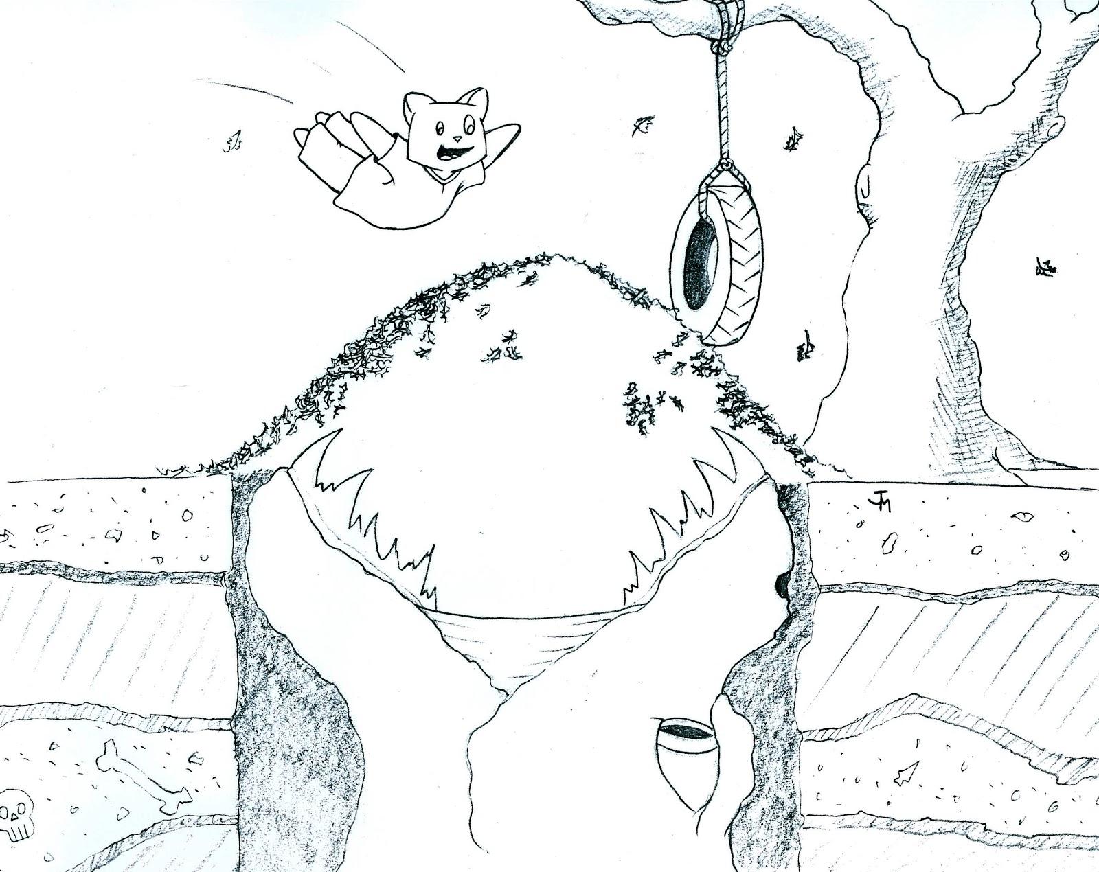 Jeff Mason S Art Blog Holiday Sketch Nov 5th Psa Beware Piles Of Leaves