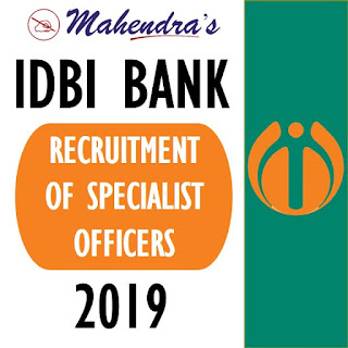 IDBI Bank SO Recruitment 2019