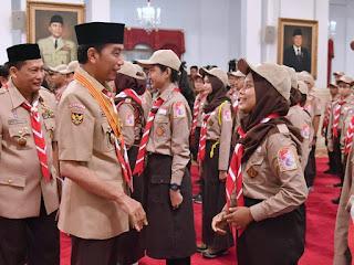 Kontingen Gerakan Pramuka Presiden Jokowi Minta Agar Anak Bangsa Dapat Ikut Ajang Jambore Kepanduan Dunia XXIV D AS