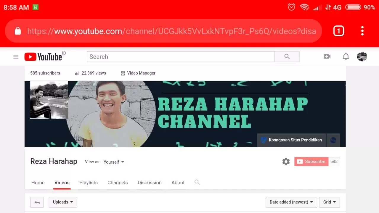 menampilkan subscribe youtube