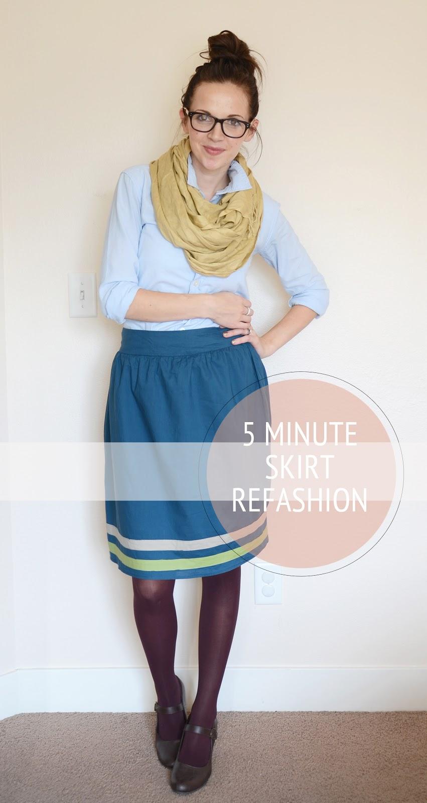 5 minute skirt refashion tutorial merrick s art