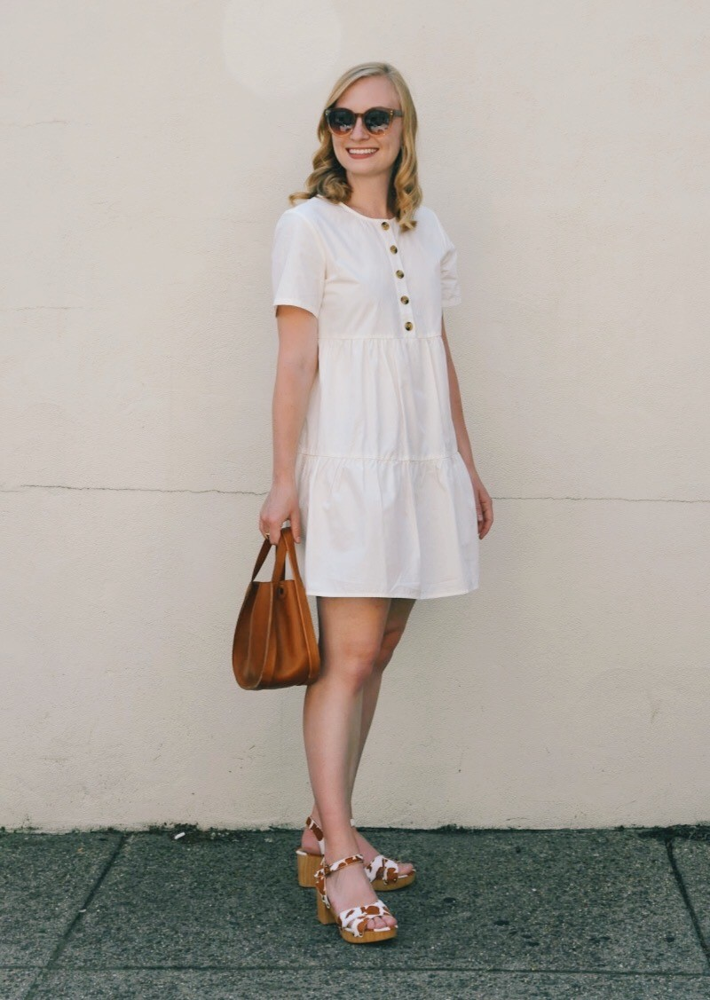 A Tiered Mini Dress for Summer   Organized Mess