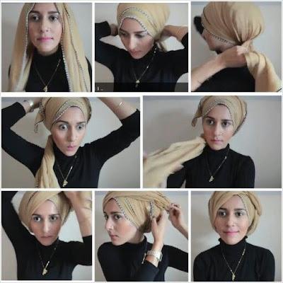 Cara Memakai Hijab Turban Style