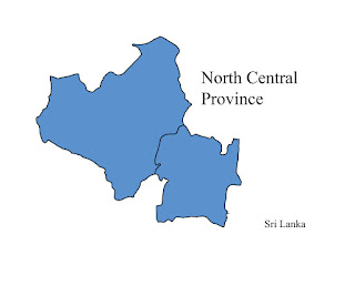 free download vector editable svg map of north central province sri lanka