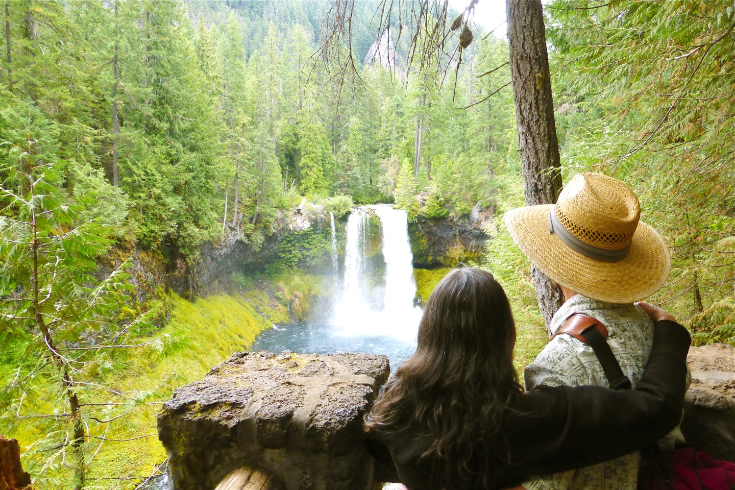 Sahalie Falls, Koosah Falls, Willamette National Forest, Cascade Range Forest Reserve, Oregon scenic river, McKenzie River, wild and scenic river, douglas fir, old growth forest, volcanic activity, andesite lava, President Grover Cleveland, John Muir, Mount Washington, scenic Oregon waterfalls, nature photography, June Anderson Under The Plum Blossom Tree, James Ayama Origami Night Lamp