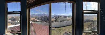 The view out the back window taken in panoramic mode