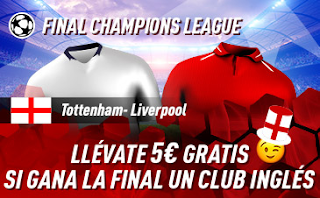 sportium Promo Final Champions League Tottenham vs Liverpool