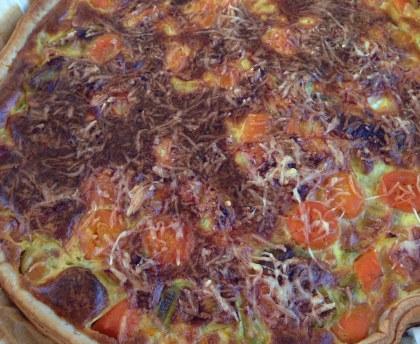 Mozza Tomato Quiche Easy and quick