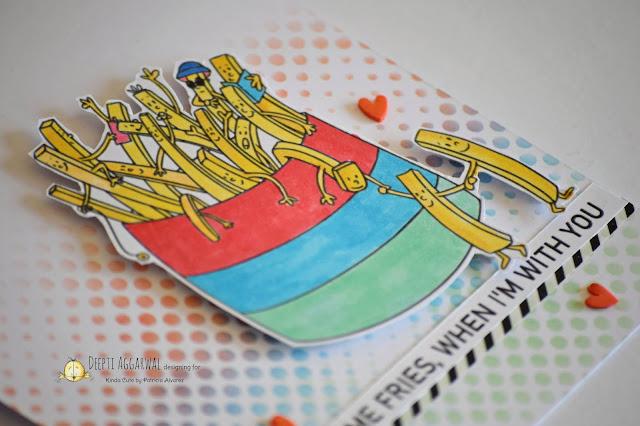 French Fries Digital Image- Pun card
