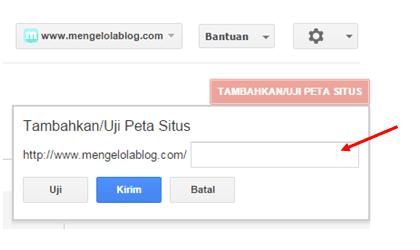 menambahkan peta situs di search console