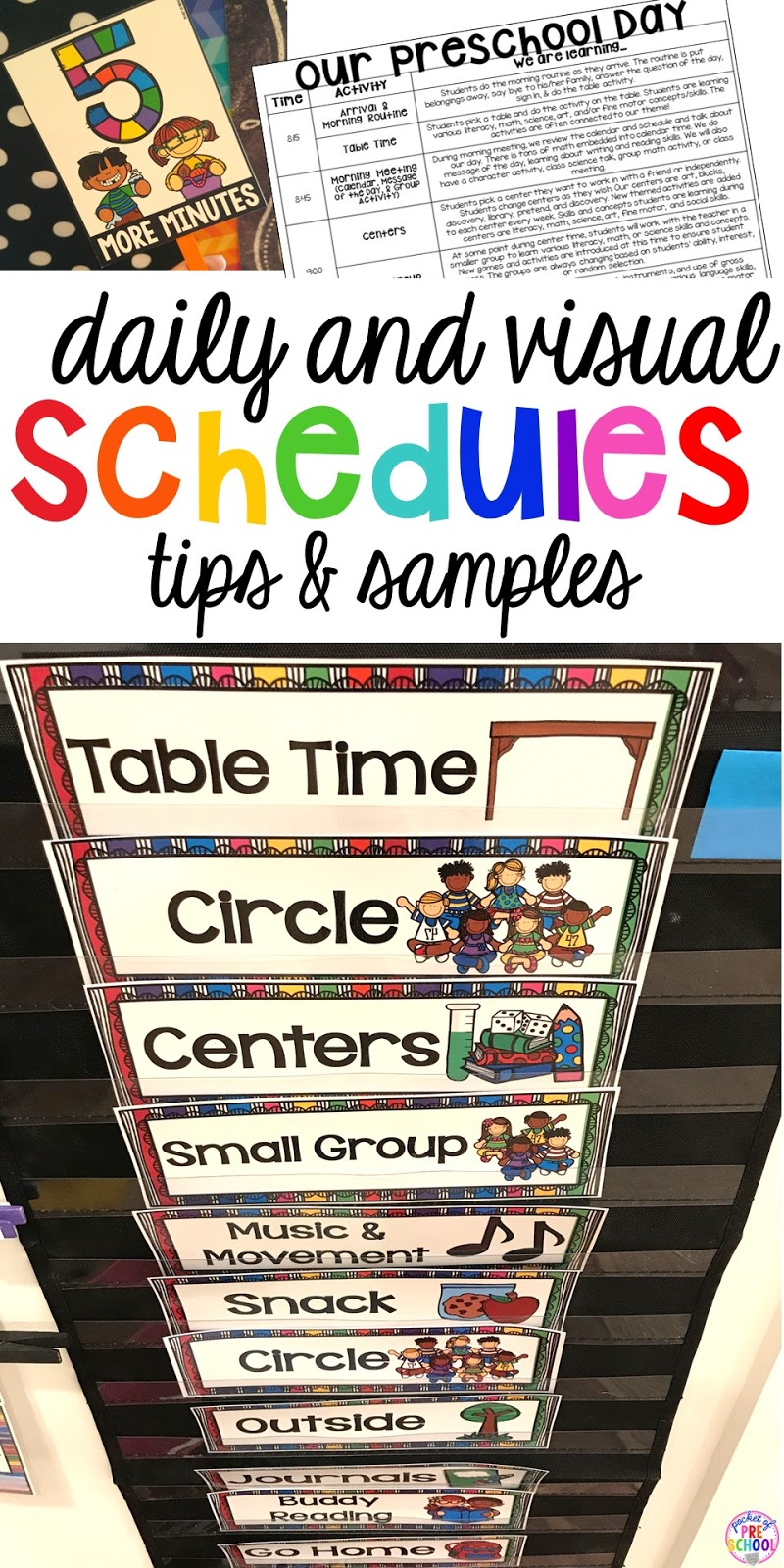 photograph relating to Free Printable Visual Schedule for Preschool titled Preschool Day-to-day Agenda and Visible Schedules - Pocket of