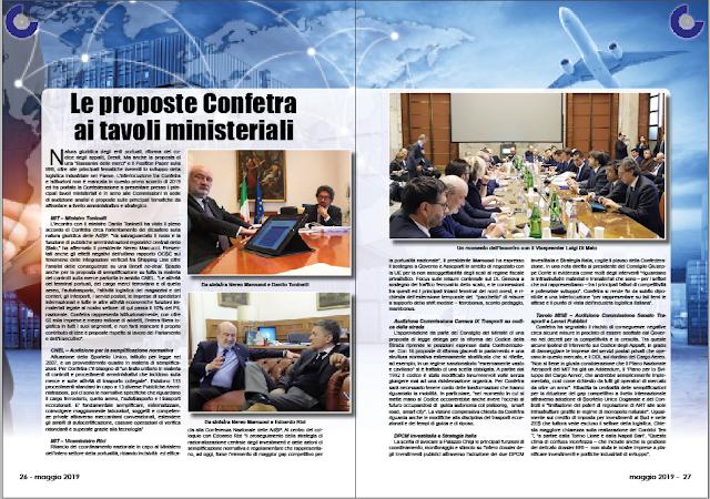 MAGGIO 2019 PAG. 26 - Le proposte Confetra ai tavoli ministeriali