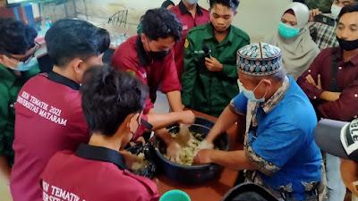 Keren, Kelompok KKN Unram Ini Buat Pupuk Cair Dari Eceng Gondok
