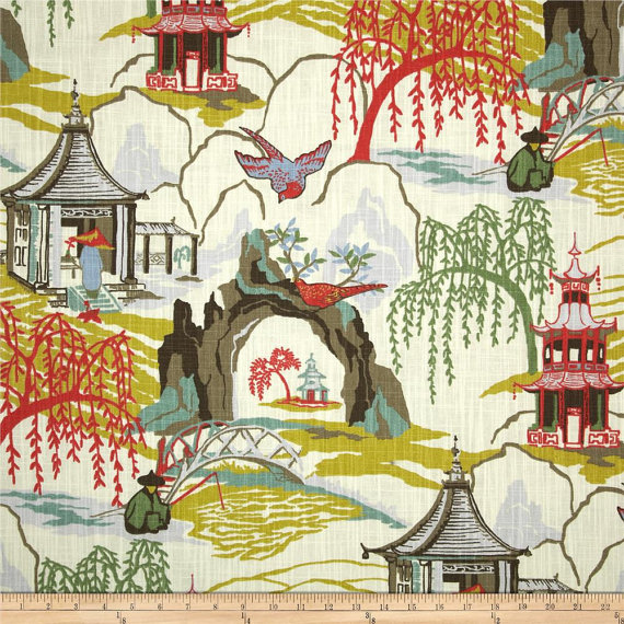 Robert Allen Neo Toile Fabric