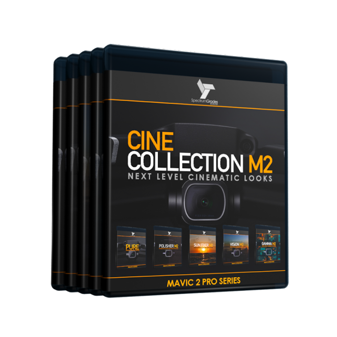 CINE COLLECTION M2 - DJI MAVIC 2 PRO LUTS & TOOLS SET - GAMMA M2, VISION M2, PURE, SUN FIXER, POLISHER M2[LUTS]