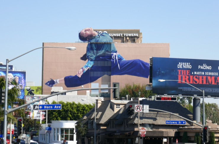 Giant AirPods Pro billboard Sunset Strip