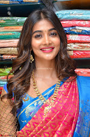 Puja Hegde looks stunning in Red saree at launch of Anutex shopping mall ~ Celebrities Galleries 028.JPG