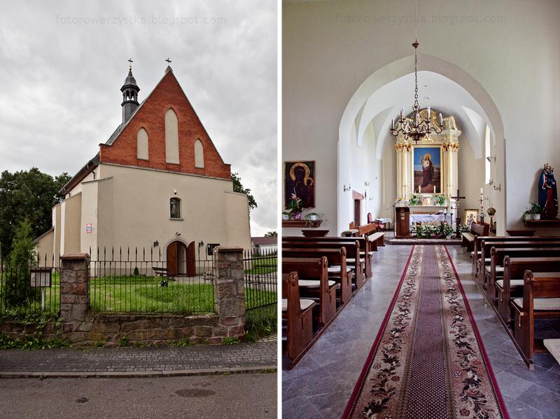 Bodzentyn, świętokrzyskie, góry, Świętokrzyski Park Narodowy, kościół ducha świętego