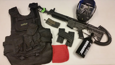 Paintball Player Gear